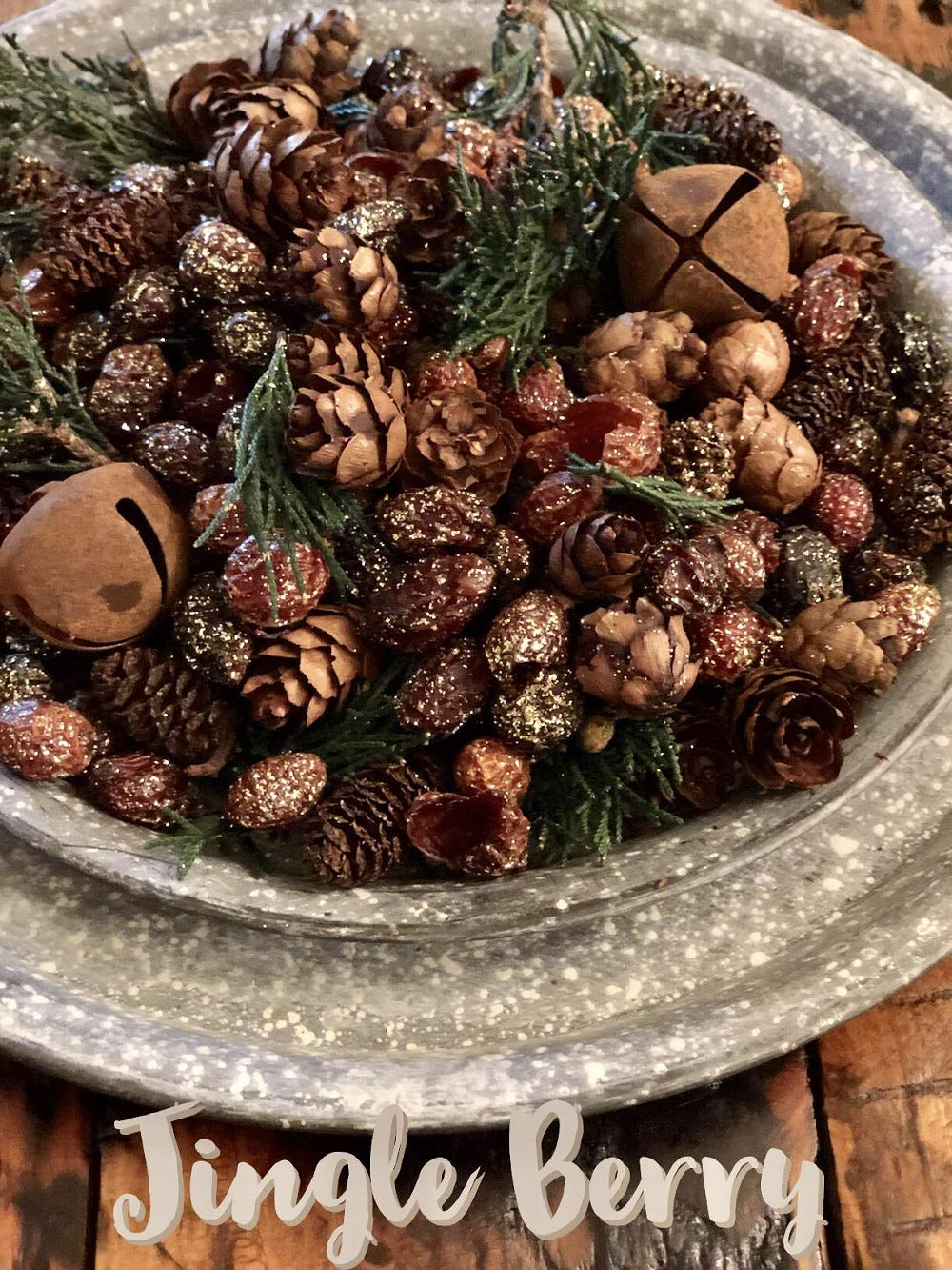 Homestead Studios Jingle Berry Potpourri - Sparkly Holiday Berry Bling with hints of Juniper and Jingle Bells - Fall, Winter Summer, All Year Round by Homestead Studios (Image #1)