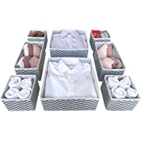 FCG Home - Set of 8 Fabric Divider Storage Organizer Box for drawers, cupboard, wardrobe – Can be used for storing…