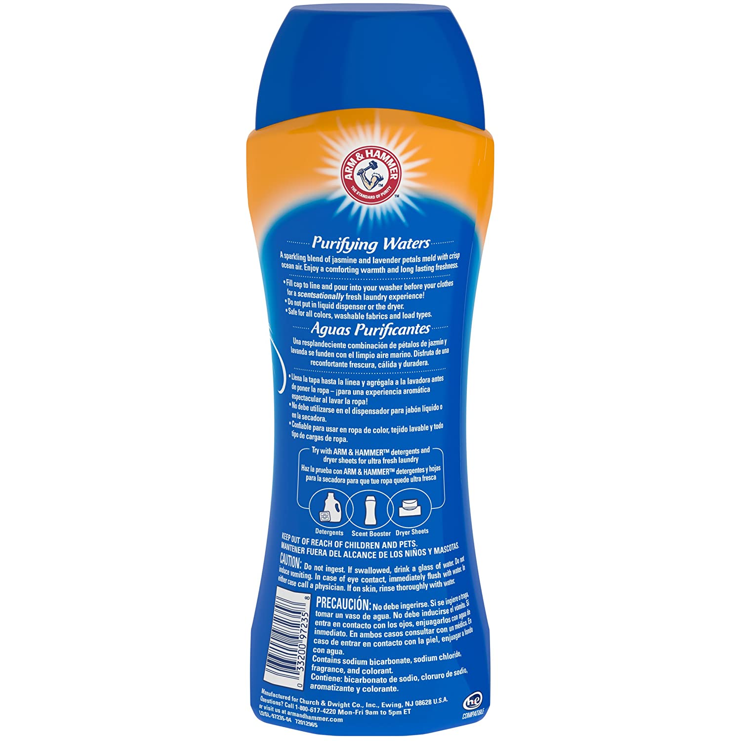 Amazon.com: Arm & Hammer Clean Scentsations in-wash Freshness Booster, Purifying Waters, 24 Ounce (Pack of 6): Sports & Outdoors