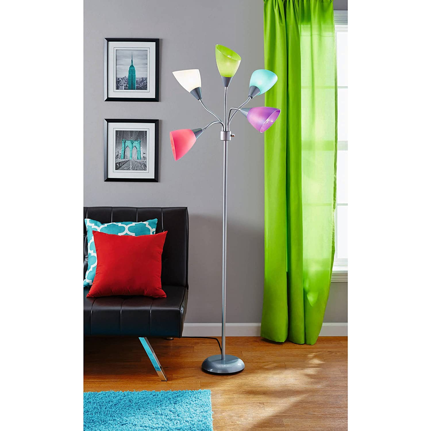 High five floor lamp with five color shades amazon mozeypictures Image collections