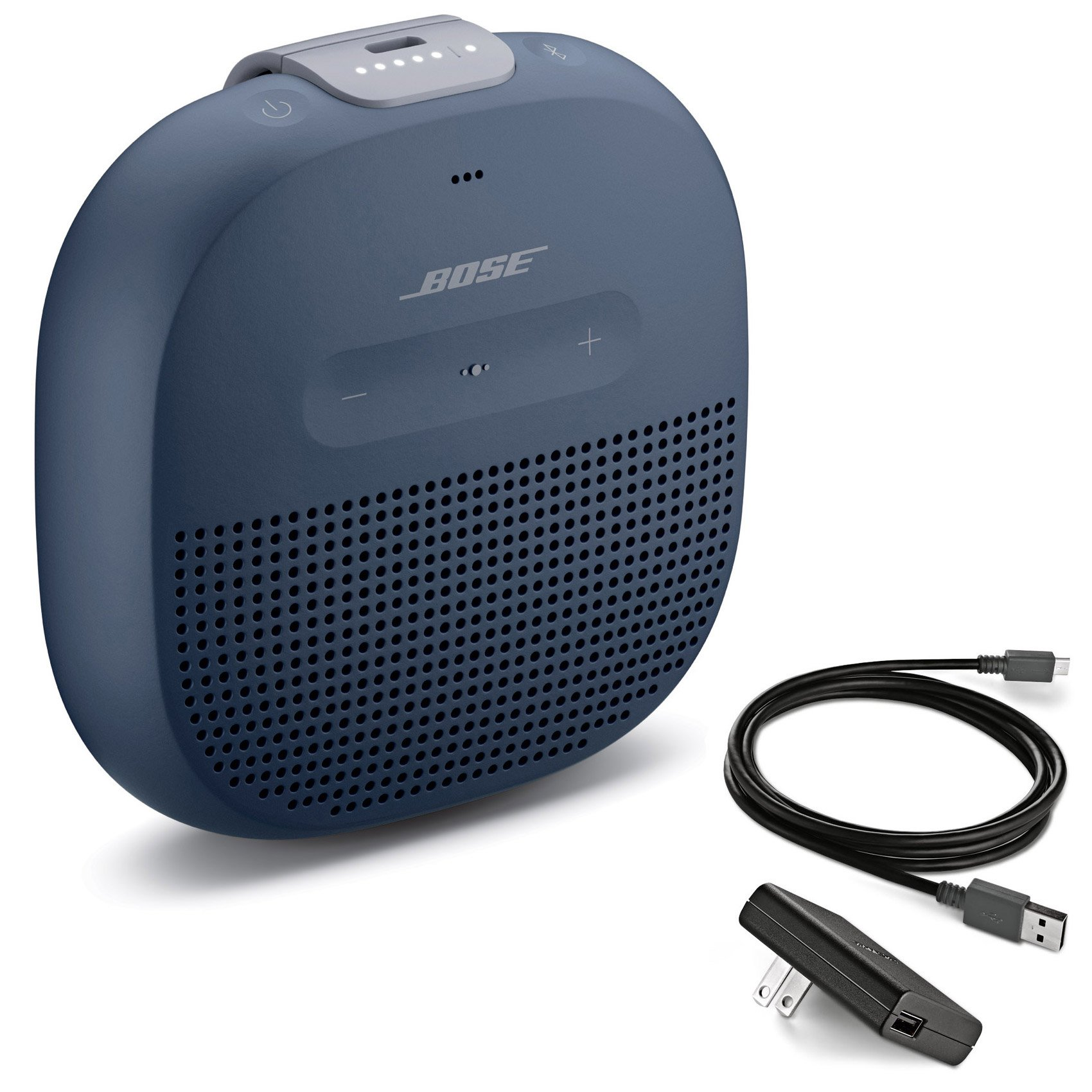 Bose SoundLink Micro Waterproof Bluetooth Speaker, Midnight Blue, with Bose Wall Charger by Bose (Image #1)