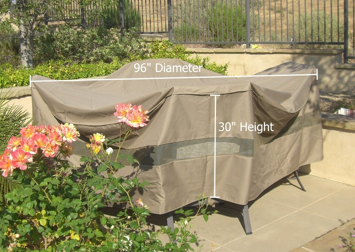 Patio Set, Conversation set Covers 96'' Dia. Fits square, oval and round Table set, NO center hole