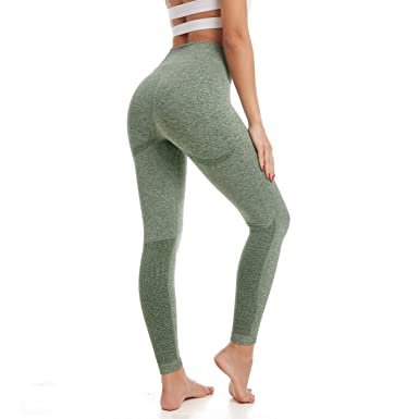 a7442b81d8519 Amazon.com: Aoxjox Yoga Pants for Women High Waisted Gym Sport Ombre Seamless  Leggings: Clothing
