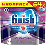 Finish Powerball Quantum Super Power Dishwasher Mega Pack 64 Tabs, 992g