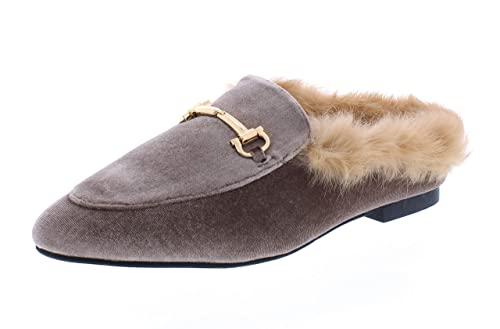 e022f809798a Hot Kiss Rozie Womens Horsebit Faux Suede Loafers Mules Shoes