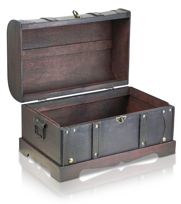 Cofre del tesoro de madera (varios tamaños), diseño de piratas de dibujos