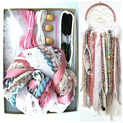 Amazon pink diy dream catcher box kit craft project do it pink diy dream catcher box kit craft project do it yourself bohemian birthday gift for girls solutioingenieria Image collections
