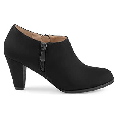 4441709c2f19 Womens Sadra Faux Suede Low-Cut Comfort-Sole Ankle Booties Black