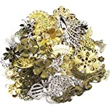 ALL in ONE Mixed Antique Bronze/gold/platinum Alloy Pendants Beads Charms Chains Connectors Jewelry Findings(50, Mix Filigree Charm)