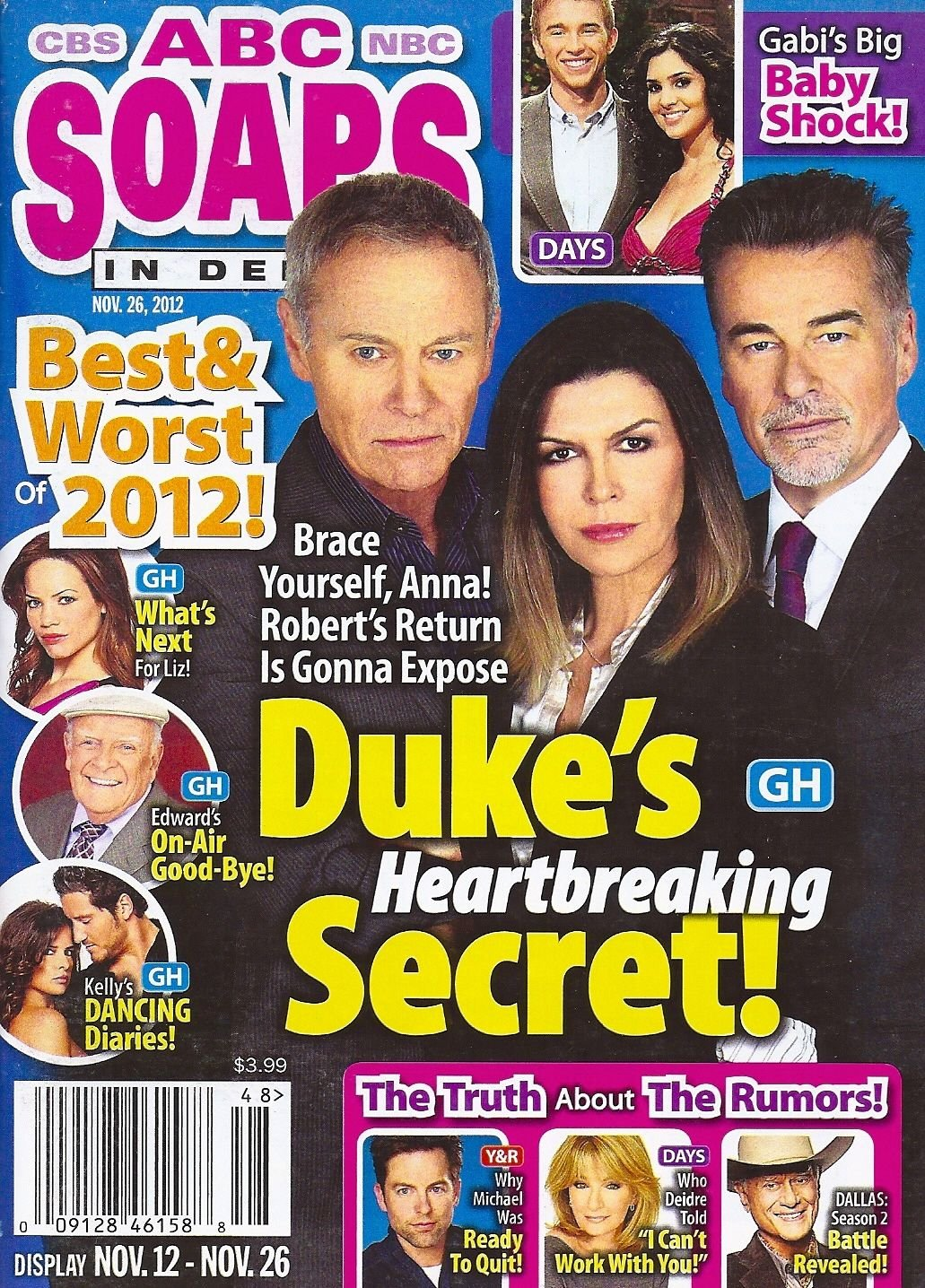 The Best Worst Of 2012 Tristan Rogers Finola Hughes Ian Buchanan November 26 2012 Abc Soaps In Depth Dawn Owens Dawn Owens Amazon Com Books