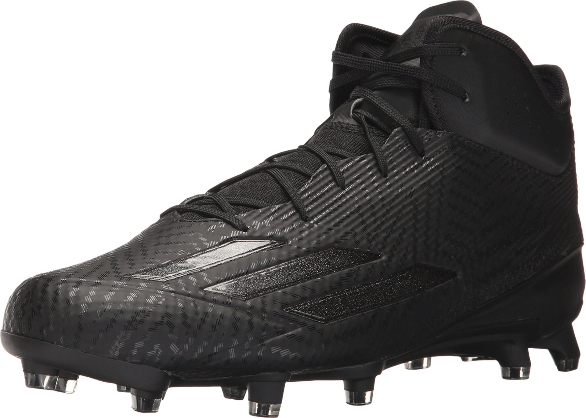 adidas Adizero 5-Star 5.0 Mid Mens Football Cleat 12 Black by adidas