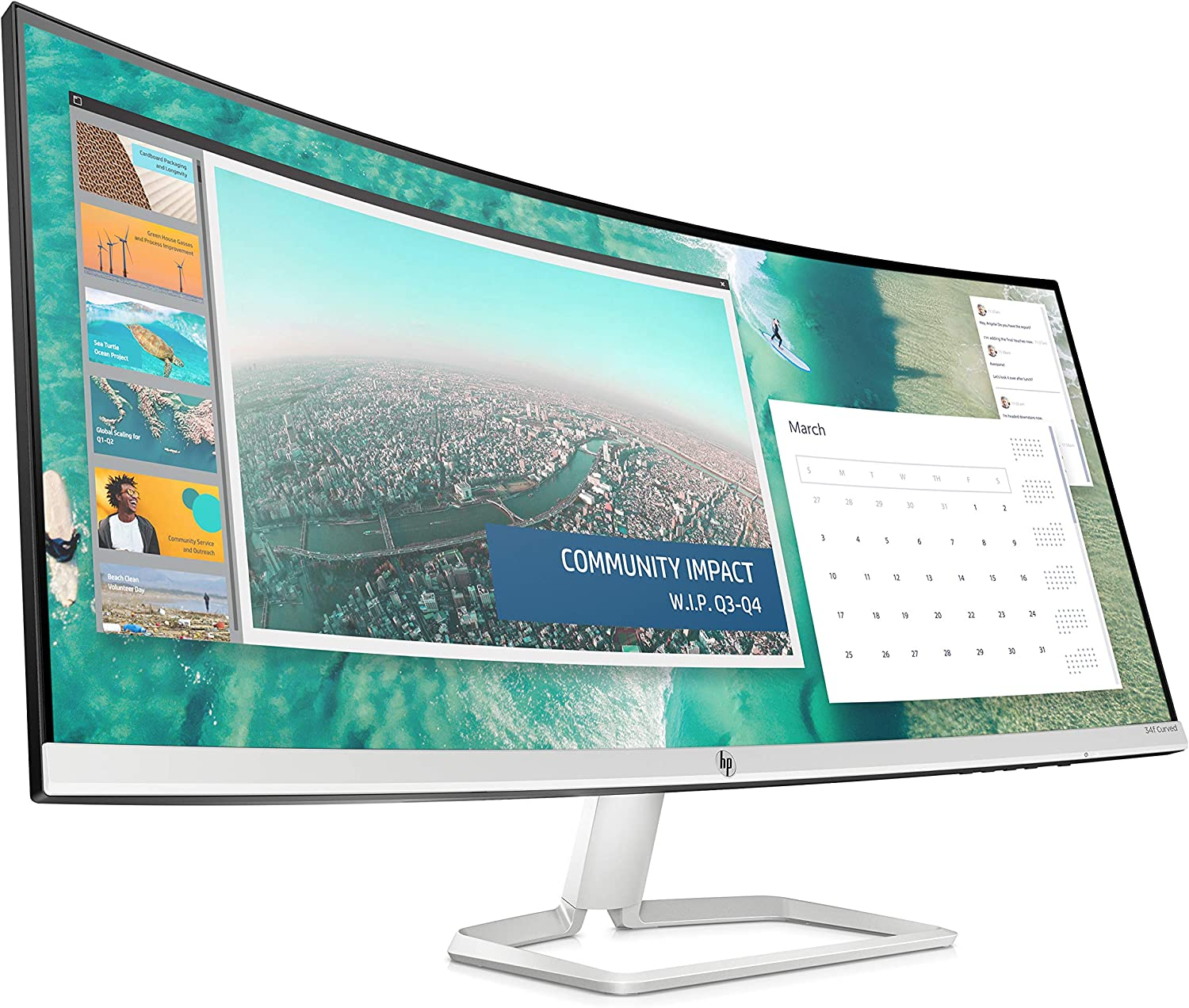 HP Ultra-Wide Curved Monitor 34 inch