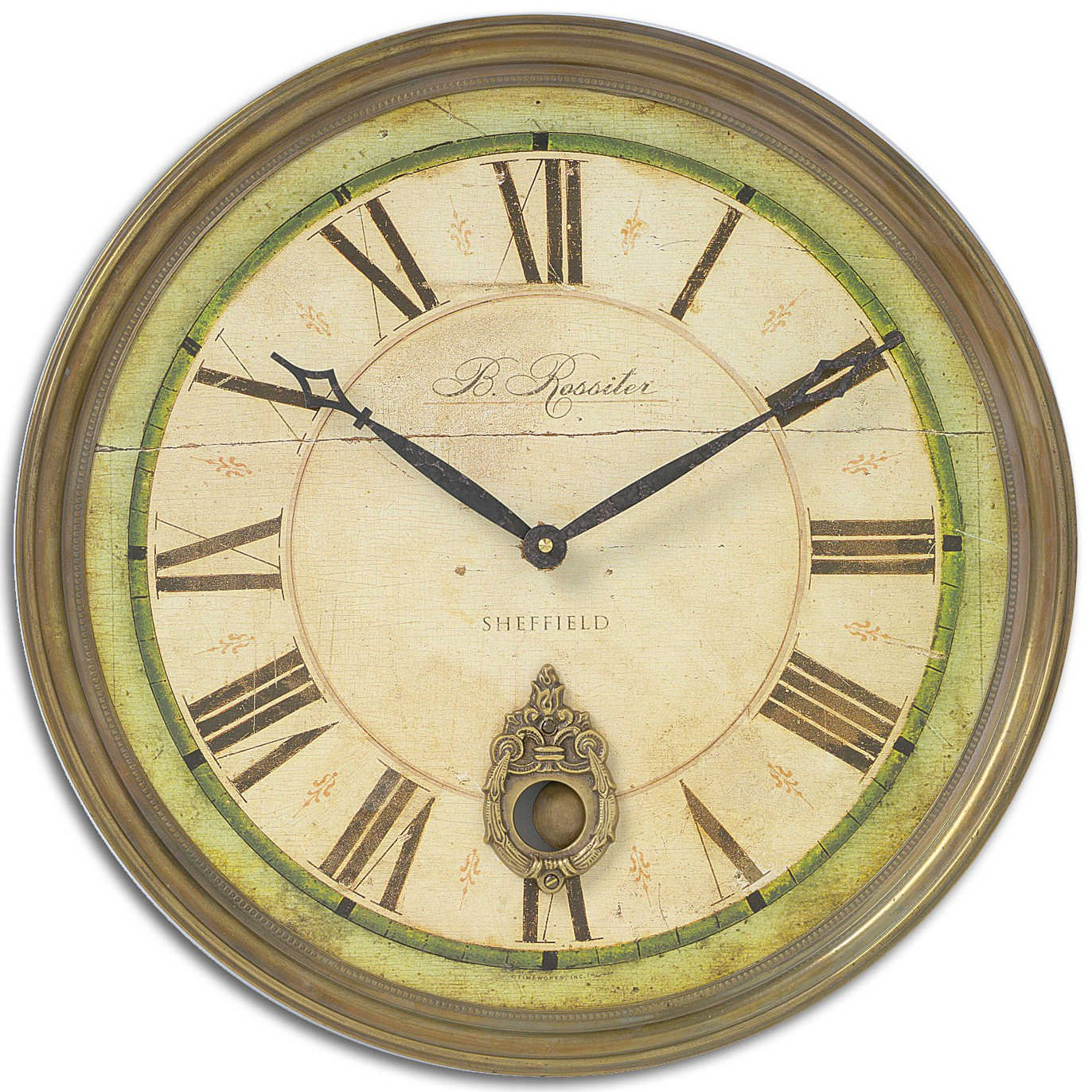 Amazon.com: Uttermost Regency B. Rossiter Wall Clock: Home & Kitchen