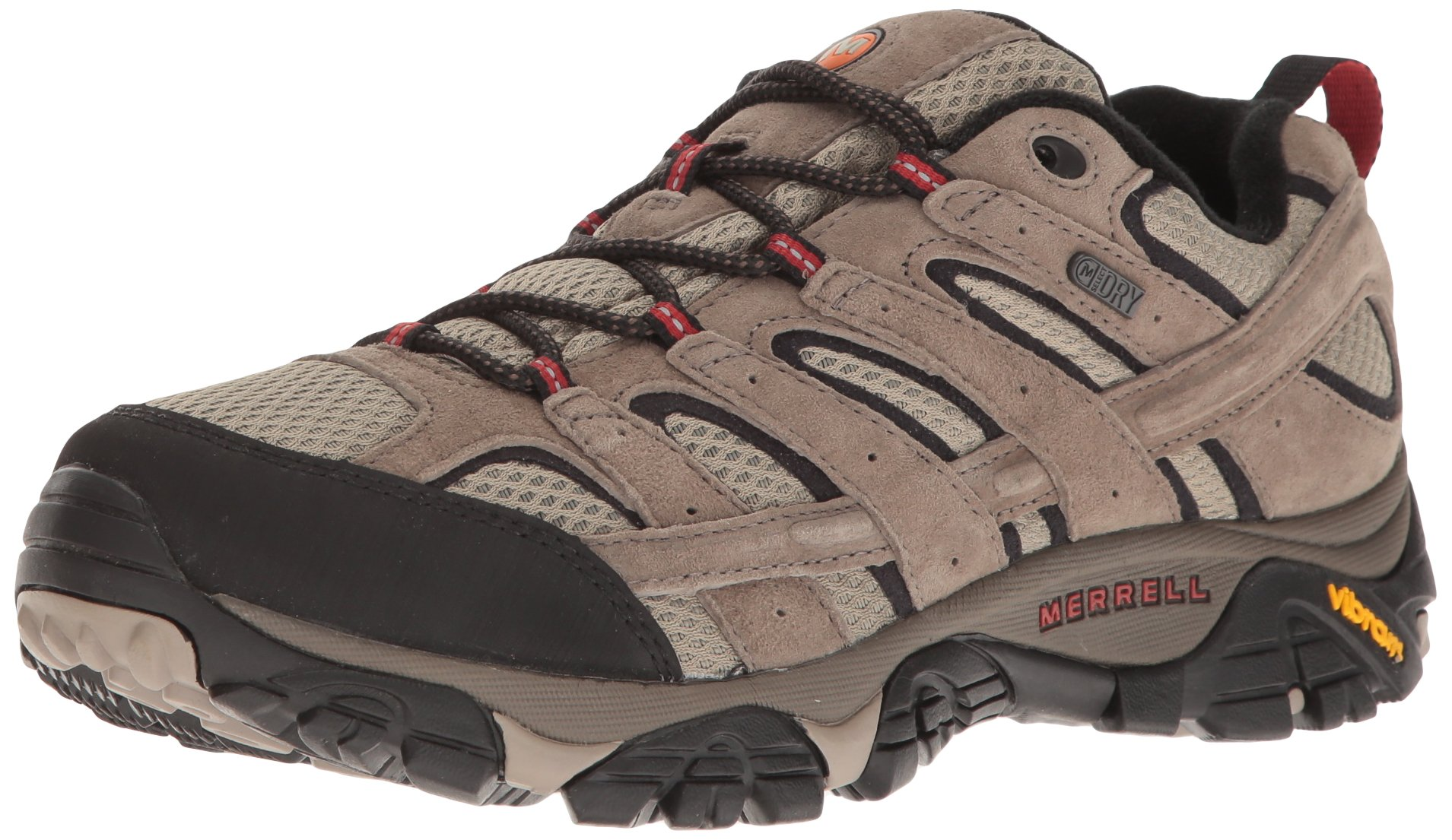 Merrell Men's Moab 2 Waterproof Hiking Shoe, Bark Brown, 7.5 2E US