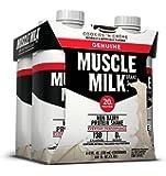 Muscle Milk Genuine Protein Shake, Cookies 'N Crème, 20g Protein, 11 FL OZ,  (Pack of 4)
