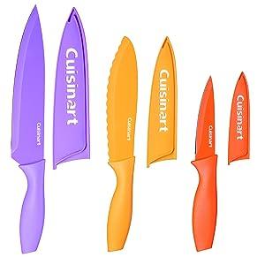 Cuisinart C55CNS-6PCS Advantage Color Collection 6-Piece Non-Stick Cutlery Set, Multicolor