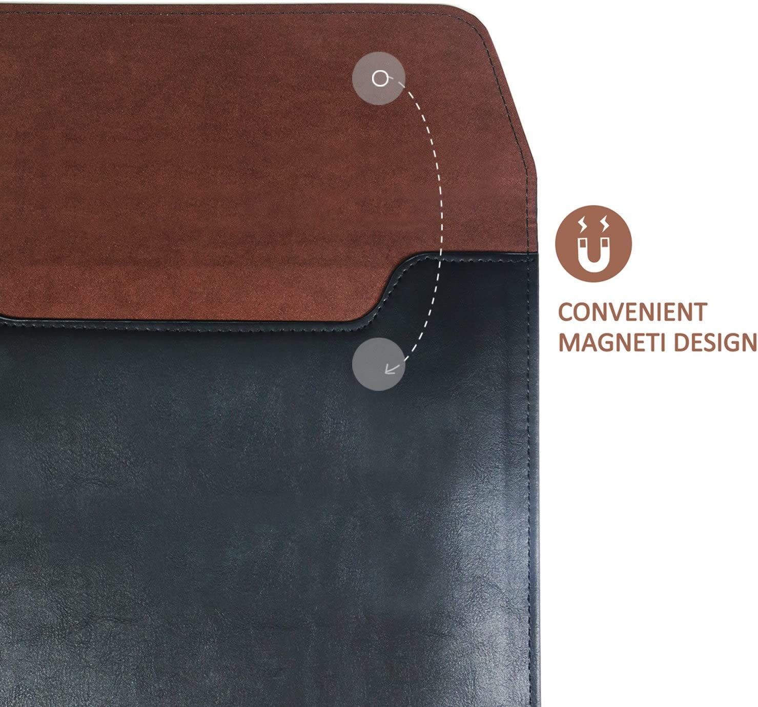 J.M.SHOW Tablet Sleeve Compatible for iPad Mini 4 Mini 3 Mini 2 Leather Case Cover iPad Mini 4-8 inch, Brown
