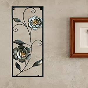 Hanizi Metal Flower Wall Art Home Decoration, 28 x 12 inches