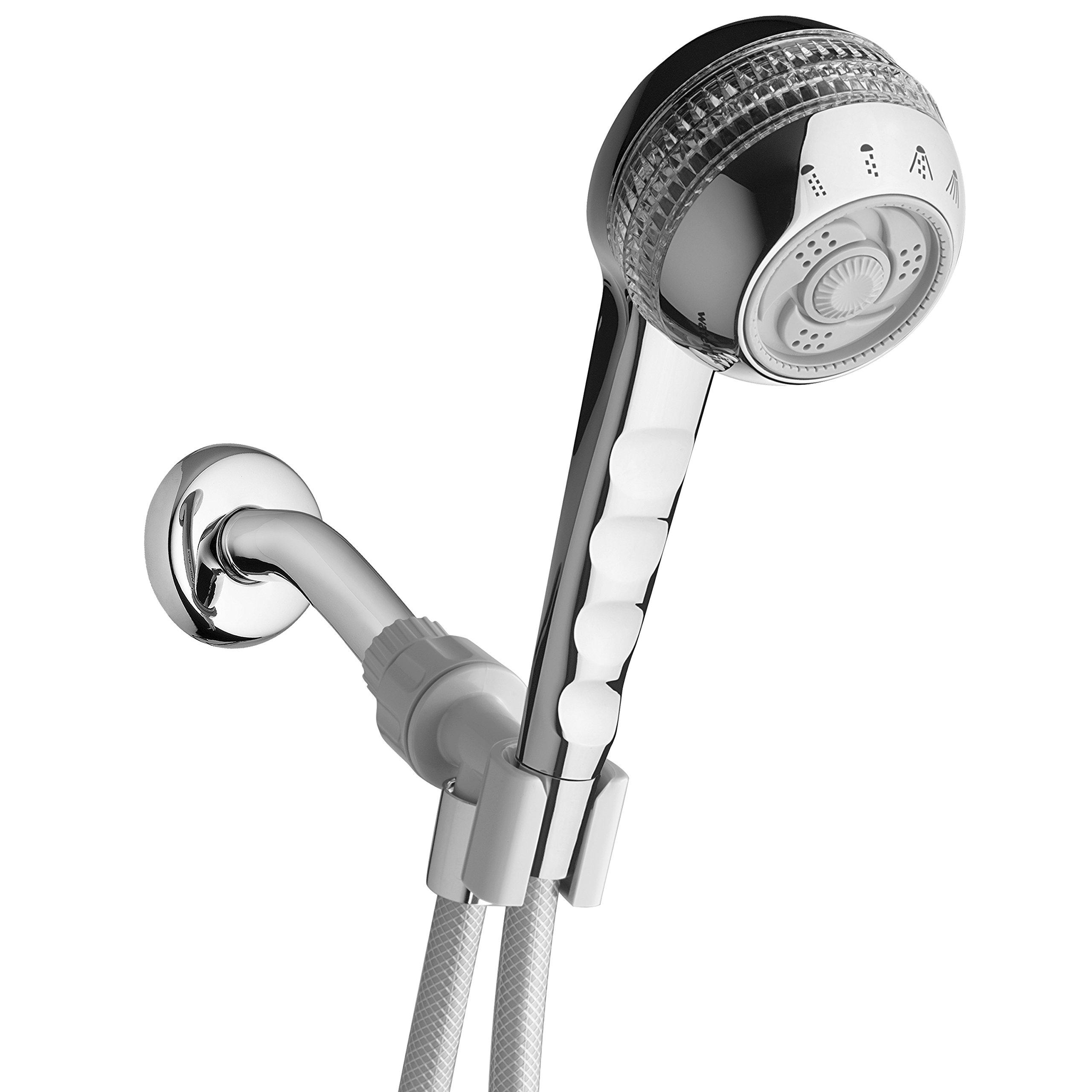 Waterpik SM-453CG Original 4-Mode Massage Handheld Shower, Chrome/Crystal by Waterpik