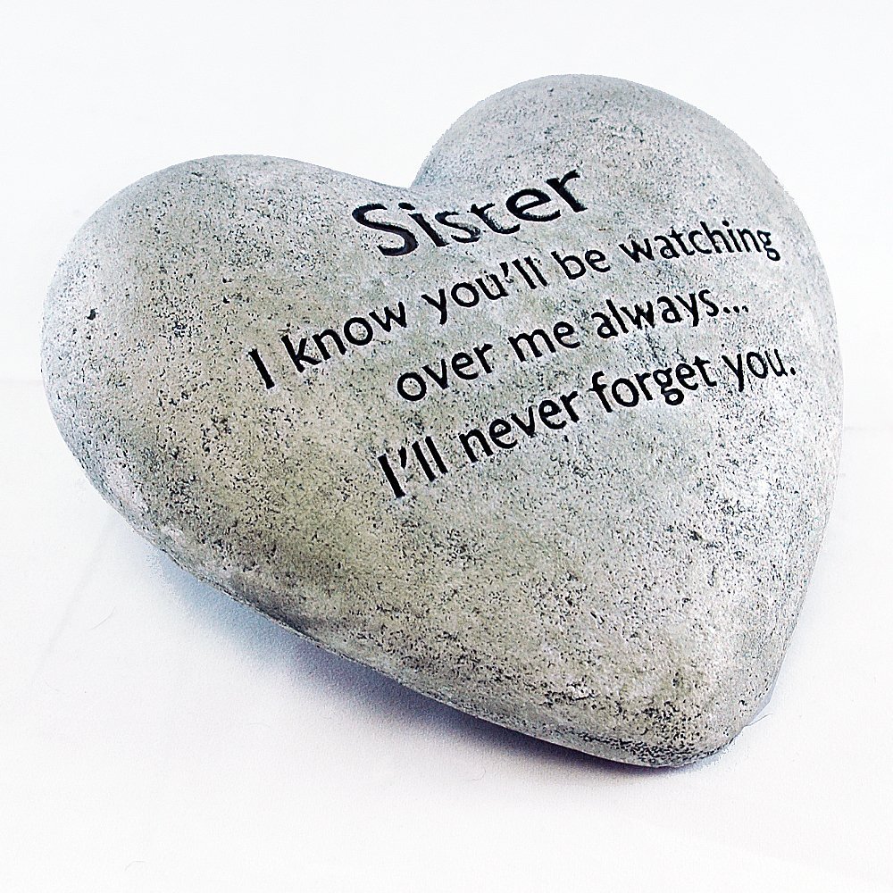 Gerson Heart Shaped Memorial Stone for Sister