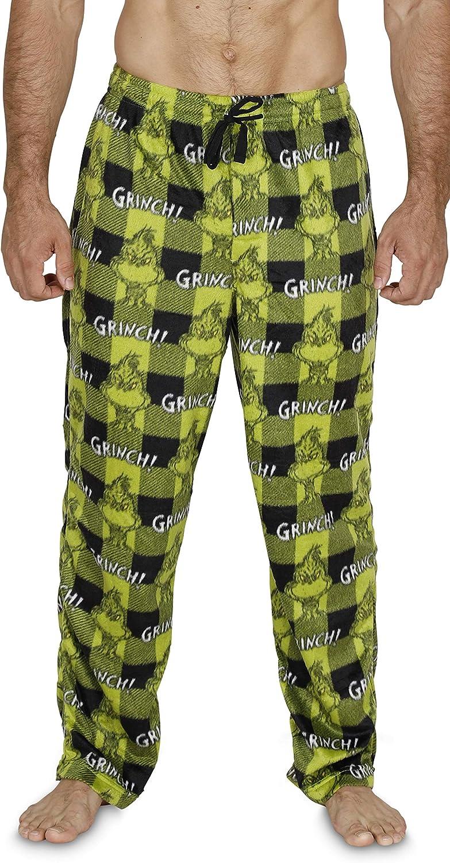 Dr. Seuss Men's Grinch Buffalo Plaid Pajama Bottom