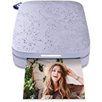 """HP Sprocket Portable 2x3"""" Instant Photo Printer (Lilac) Print Pictures on Zink Sticky-Backed Paper from Your iOS…"""