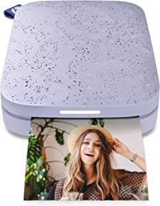 """HP Sprocket Portable 2x3"""" Instant Photo Printer (Lilac) Print Pictures on Zink Sticky-Backed Paper from your iOS & Android Device."""