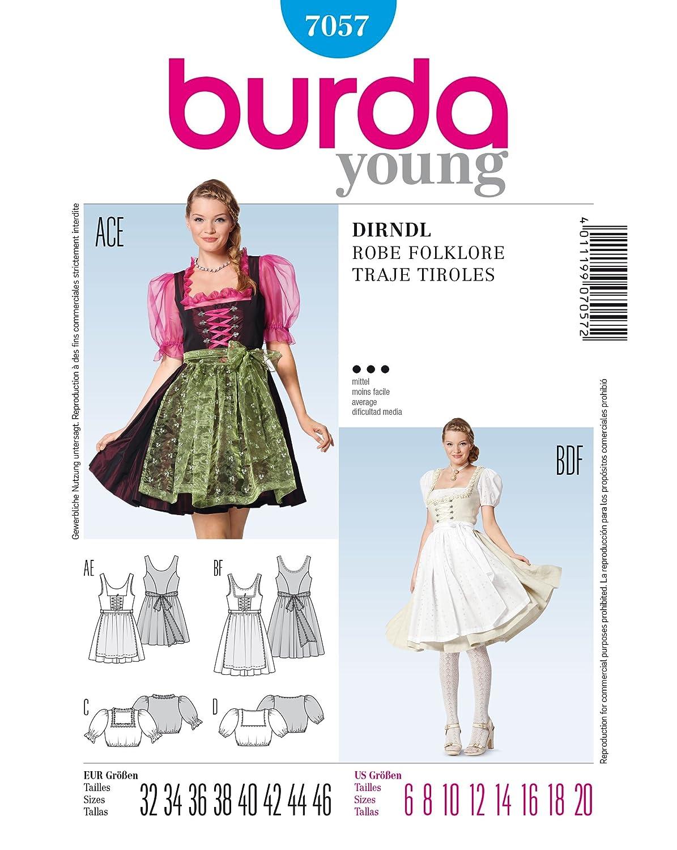 Burda style Schnittmuster Dirndl mit Bluse: Amazon.de: Küche & Haushalt