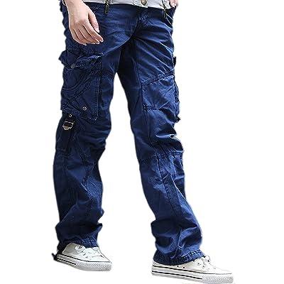 Urbanboutique Femmes Combat Désinvolte Cargaison Six Poche Coton Militaire Pantalon Jeans