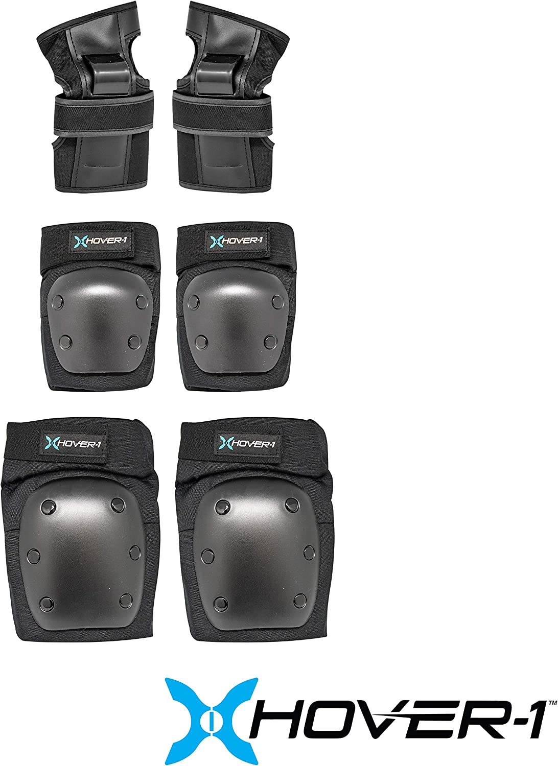 Wrist Guards and Knee Pads Set Hover-1 Nylon Protective Elbow Pads