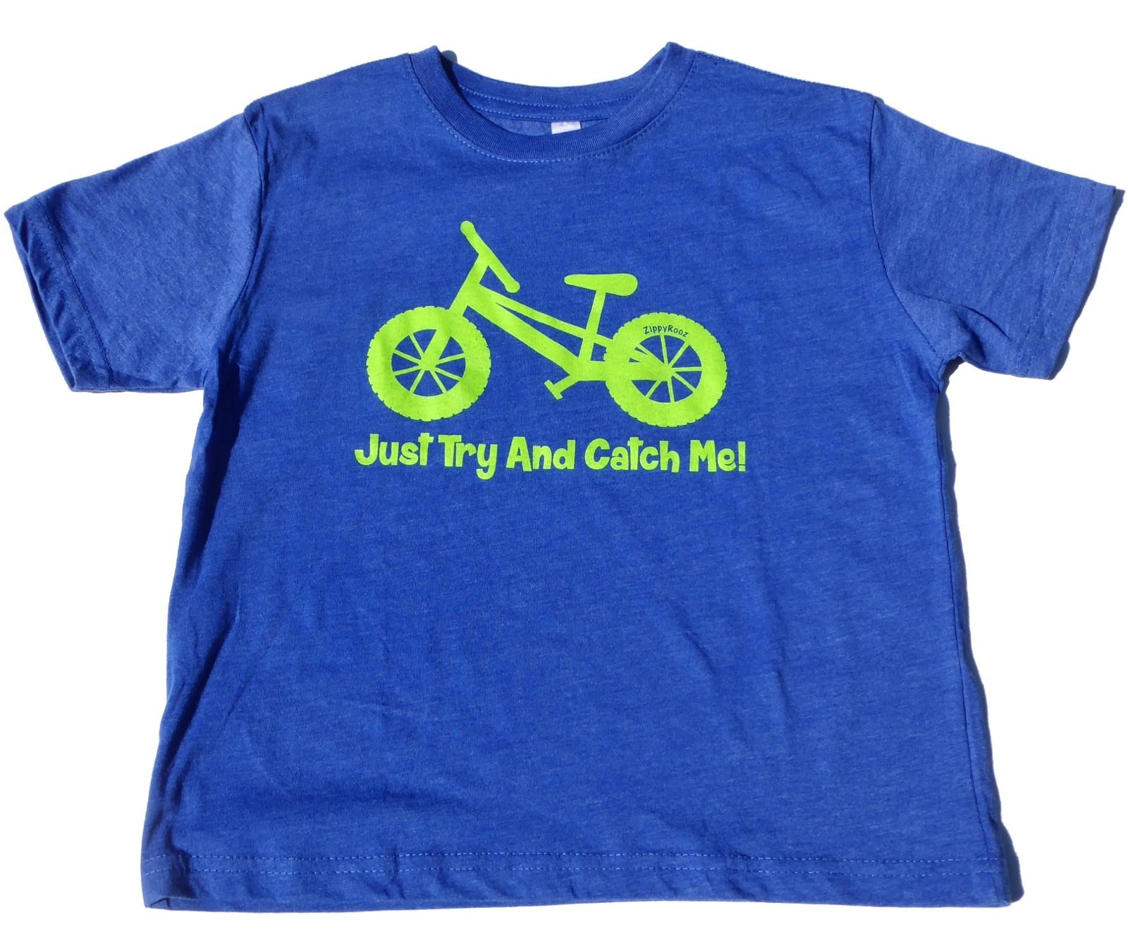 ZippyRooz Boys Toddler & Little Kids Pedal Bike Tee Shirt Just Try and Catch Me! (5/6)