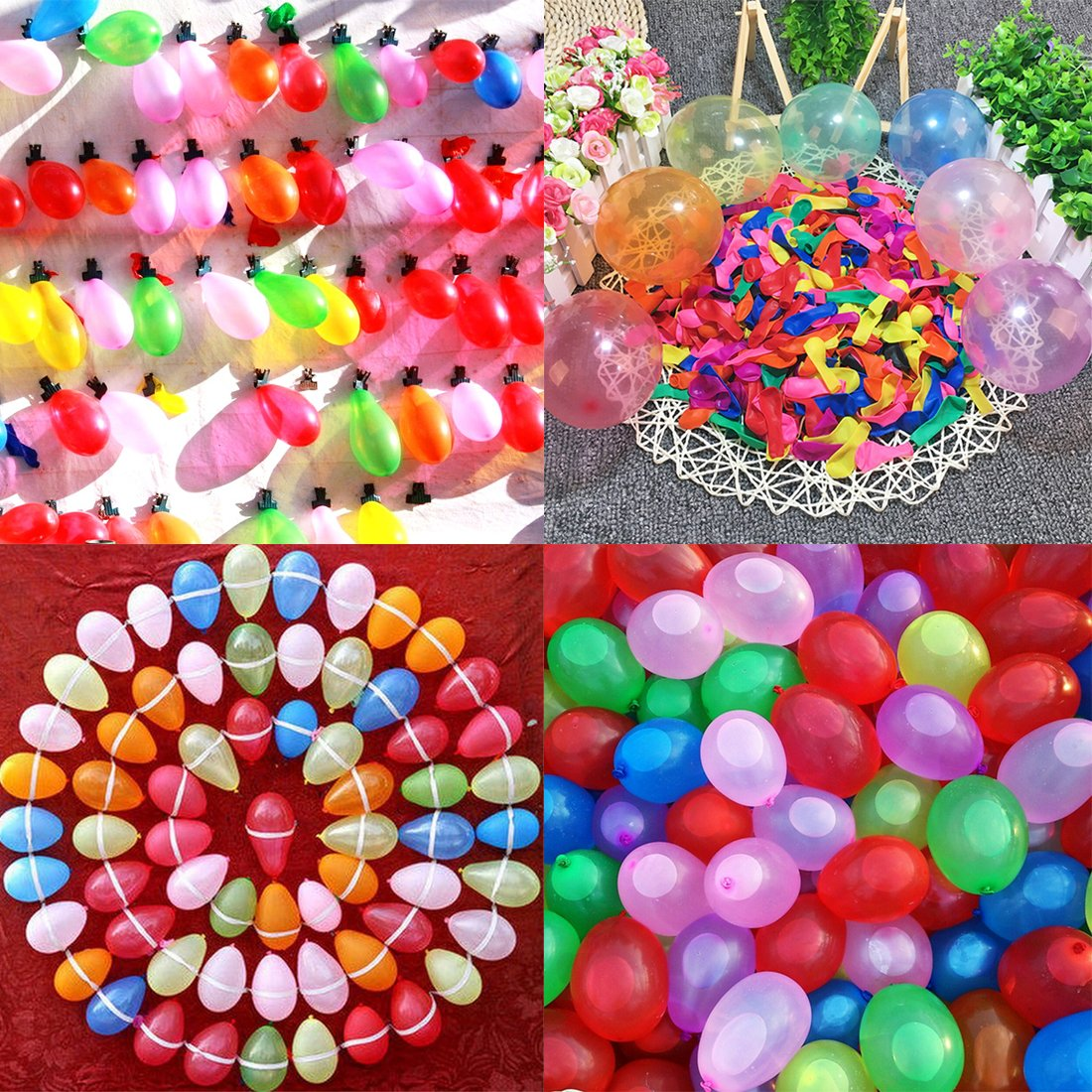 Yamix 3000 Pack Water Balloons Latex Water Bomb Balloons Fight Games for Kids Adults (Funnel Color Random) by Yamix (Image #2)