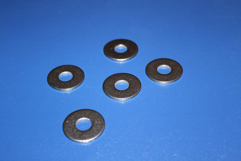 gro/ße Form V2A 100 St/ück Unterlegscheiben DIN 9021-3,2mm f/ür M3 A2 Edelstahl Beilagscheiben 100, f/ür M3