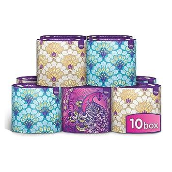Kleenex - Caja oval de decoración, paquete de 10 unidades (toallitas 10 x 64): Amazon.es: Alimentación y bebidas