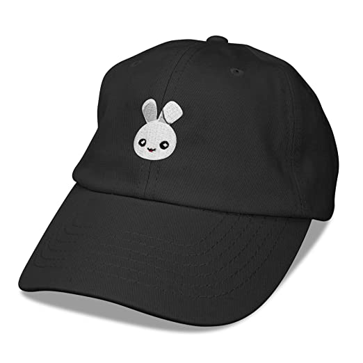 DALIX Cute Bunny Dad Hat Cotton Twill Baseball Cap Embroidered  Design 11c90a36b676