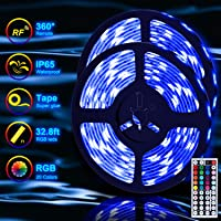 Tenmiro 32.8-Foot LED Light Strips With 44key RF Remote Controller For Home Outdoor Lighting Decoration