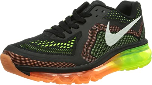 Nike Air MAX 2014 (GS), Zapatillas de Estar por casa Niños^Niñas, Negro (Sail Atomic-Orange Volt), 38.5 EU: Amazon.es: Zapatos y complementos