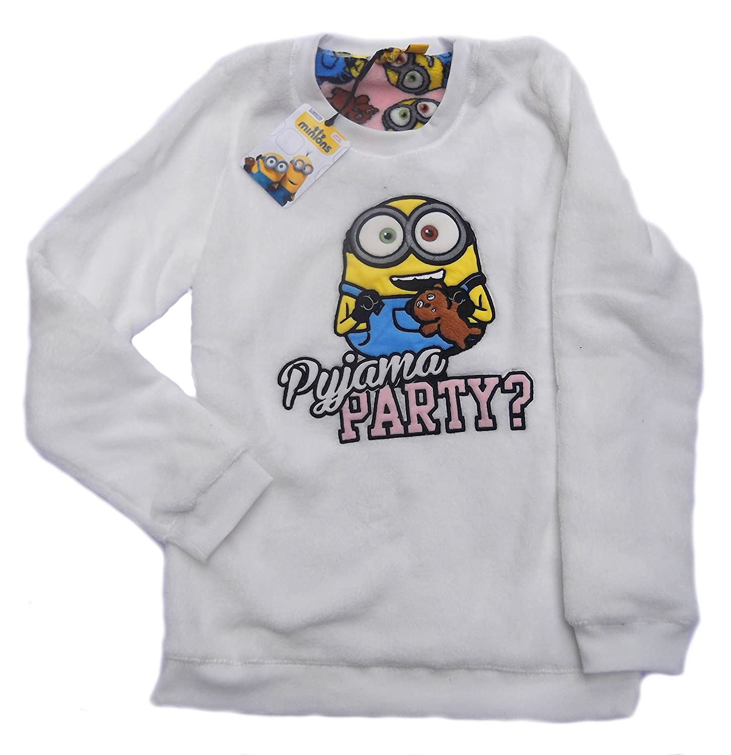 Love to Lounge Ladies Minions Pijama Pijama Party Acogedor Forro Polar Bob con Oso Amarillo Minions Bob/Yellow XL: Amazon.es: Ropa y accesorios
