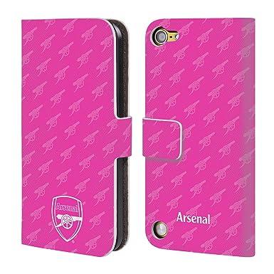 2017/18 oficial del Arsenal FC Crest patrones funda de piel tipo libro para iPod