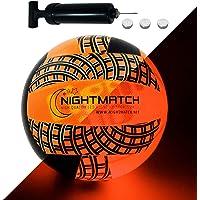 Night Match volleybalbal, verlicht, ballonpomp en reservebatterijen, inclusief – verlicht van binnen door een heldere…
