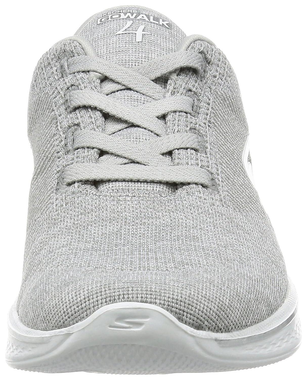 Skechers Performance Women's Go Walk B06X9J4FDF 4 Lace-up Walking Shoe B06X9J4FDF Walk 11 W US Gray Knit dd8e75