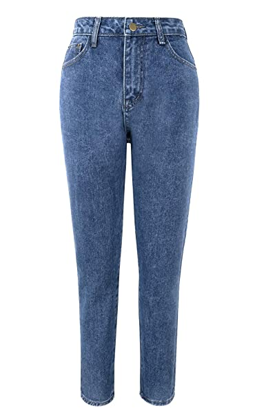 pretty and colorful finest fabrics enjoy bottom price TAIPOVE Vintage Straight Leg Mom Jean Slim Fit Hight Waisted Rise Casual  Black Denim Smart Jeans Trousers Pants Jegging for Work UK Ladies Women New  ...