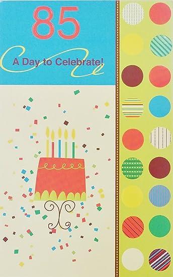 Amazon.com: 85 un día para celebrar – Happy 85th Tarjeta de ...
