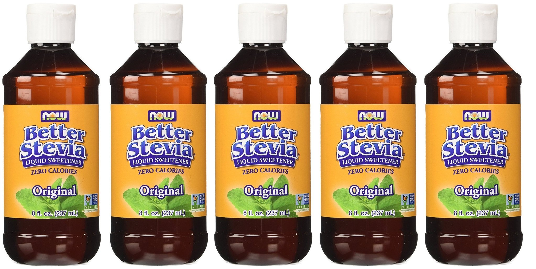 NOW Foods BetterStevia Liquid rCmLrT 8 oz (Pack of 5) by