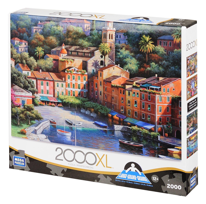 Deluxe Italian Village Harbor, 2000-Piece by Mega Puzzles