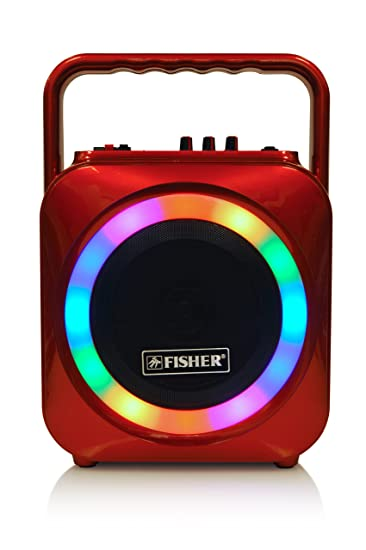 Fisher Wireless Sports Stereo System, 6inch Subwoofer Speaker, Bluetooth  Enabled, FM Radio Player