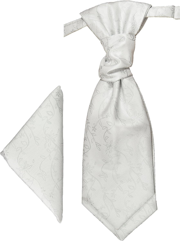 Paul Malone Plastron + pañuelo blanco floral: Amazon.es: Ropa y ...