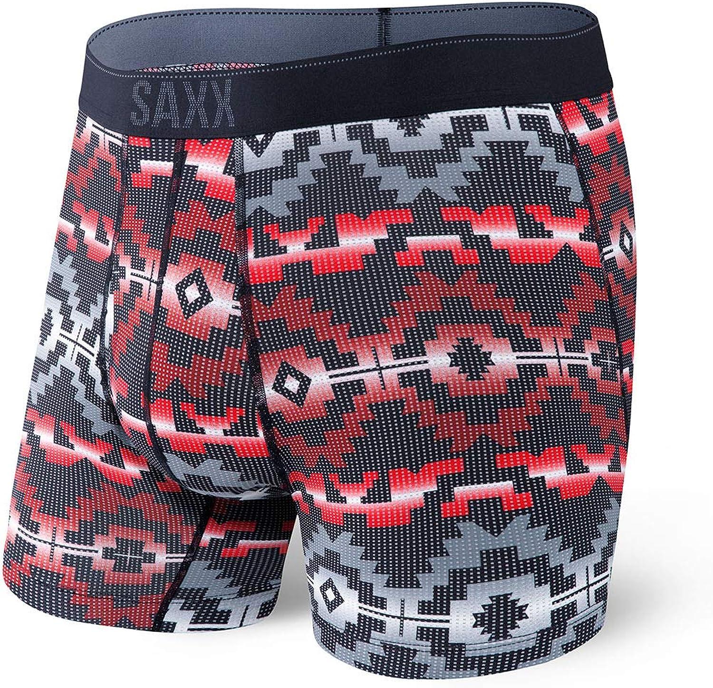 SAXX Underwear Co Quest 2.0 Boxer Briefs Ballpark Pouch Midnight Blue Medium Medium Midnight Blue