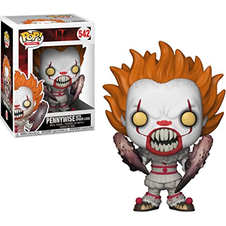 Funko Pennywise w/Spider Legs POP! Movies x It Vinyl Figure + 1 Classic  Horror & Sci-fi Movies Trading Card Bundle [#542/29526]