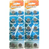 20 Eunicell AG13 A76 LR44 357 L1154 Button Cell 1.5V Battery Long Shelf Life 0% Mercury (Expire Date Marked)